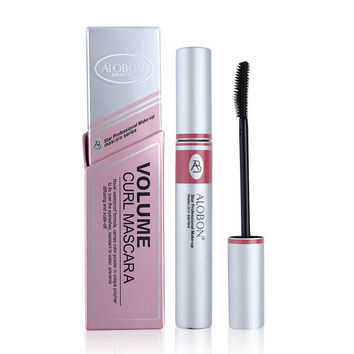 BIG SALE Black ink Alobon Cosmetic 3d Fiber Lashes Mascara Individual False Eyelashes Extension Colossal Mascara Volume Express Makeup