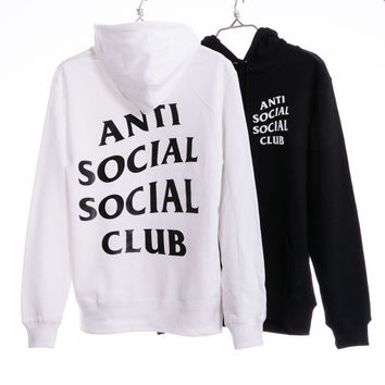 """Anti Social Social Club""  Cotton Fashion Hoodies [9321334983]"