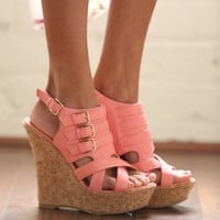 Drop Dead Gorgeous Wedges Coral