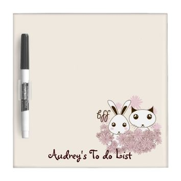 BFF - Best Friends Forever Cute Animal Kids Ivory Dry-Erase Board