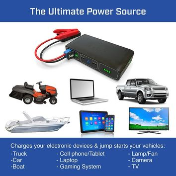 Wireless HALO Bolt AC DC Phone Charger & Car Jump Starter with AC
