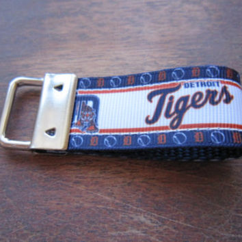 Detroit Tigers Inspired Keychain Fob