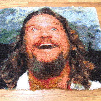 Big Lebowski Dream Rug, Latch-hook rug, the dude abides. One of a kind Man.