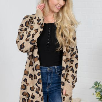 Chocolate Leopard Pocket Cardigan