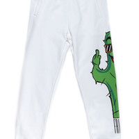 CACTUS FRIENDS SWEAT PANTS / OFF WHITE