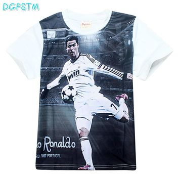 Children Boy t Shirts Summer Cristiano Ronaldo cr7 T-Shirts for Kids Clothes Short Sleeve Tops Tees Messi jersey print T-shirt