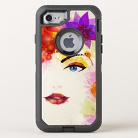 Watercolor Face OtterBox Defender iPhone 8/7 Case