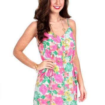 The Floral Dance Hawaiian Print Dress | Monday Dress Boutique