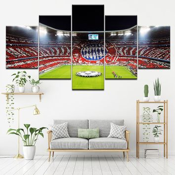 World Cup Soccer Futbol Five Piece Canvas
