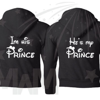 LGBT Gay Matching Couple Shirts, I'm His Prince He's My Prince, Disney Super Cute Couple Shirts, MWM, 319