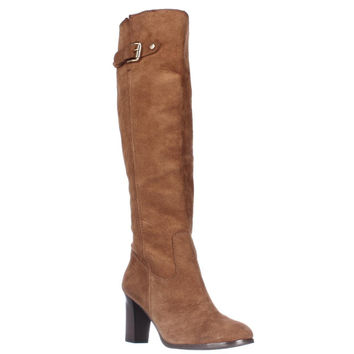 MICHAEL Michael Kors Burke Tall Western Heeled Boots - Luggage