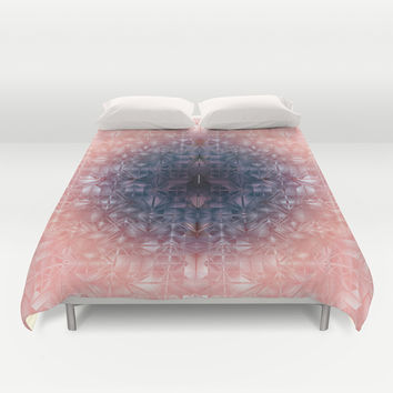 Crystal radial pattern Duvet Cover by VanessaGF