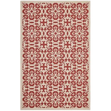 Ariana Vintage Floral Trellis 5x8 Indoor and Outdoor Area Rug - R-1142D-58