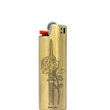 Rose Dagger Standard Metal Lighter Case