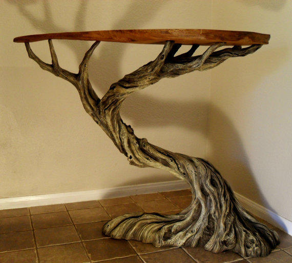 Functional Sculpture  Deadwood Table by EhlingerArt on Etsy