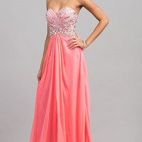 Long Strapless Alyce Prom Dress