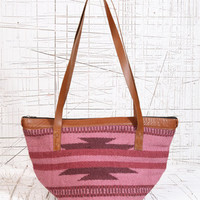 Woven Shopper in Pink at Urban Outfitters