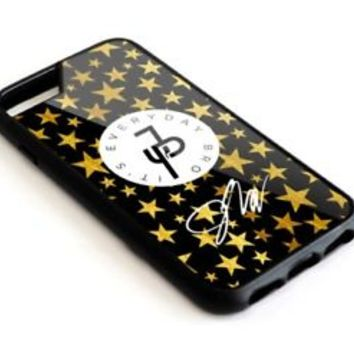 Best Jake Paul Star Gold Logan iPhone 8+ 8 7+ 7 6s+ 6s Hard Plastic Case