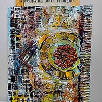 Embedded In Time Mixed Media Canvas Panel Ready to Ship