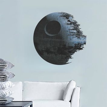 movies Star Wars Death Star wall stickers for kids rooms decals art home decor kids nursery gifts Bedroom Living room wallpaper
