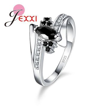 Women 925 Sterling Silver Zircon Luxury Ring