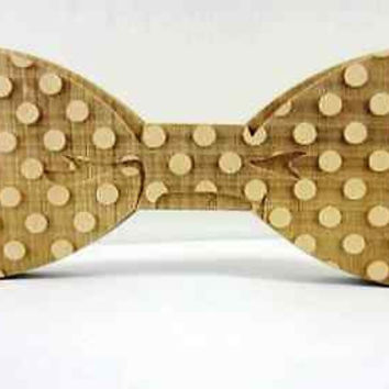 2016 New Fashion Personality Dot Bow Tie Wooden Butterfly Neck Tie Men Jewelry