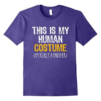 This Is My Human Costume Panther Halloween Funny T-shirt