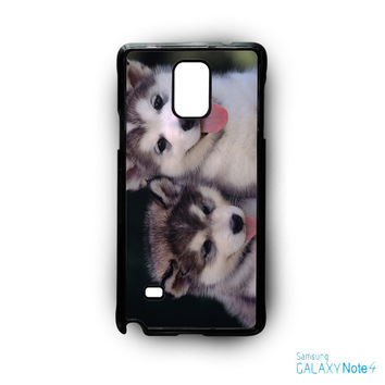 Siberian Husky Puppies Dog for Samsung Galaxy Note 2/Note 3/Note 4/Note 5/Note Edge phone case
