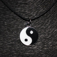 Yin Yang Charm Choker Necklace