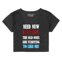 Need new Haters-Female Heather Onyx T-Shirt