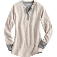 Women's Double Soft Layered Henley