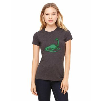 Bella + Canvas Fitted Tee With A Loch Ness Monster Full Body Design