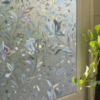 Tulip Flower 3D Static Cling decorative Privacy etched Glass Window Film