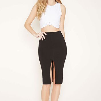 Vented Pencil Skirt