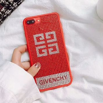 Givenchy 2018 New Fashion Trendy iPhone 6/7/8 Phone Case Cover F-OF-SJK Red