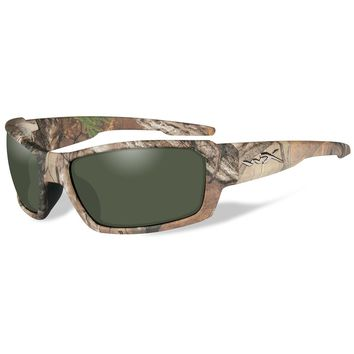 Wiley X Rebel Polarized Sunglasses - Green Lens - RealTree Xtra Camo Frame [ACREB07]