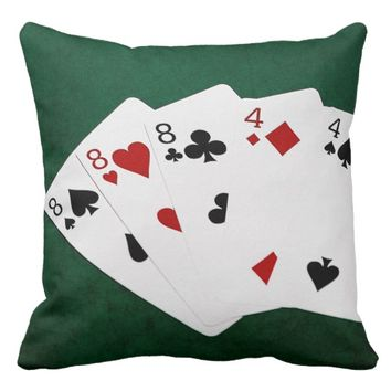 Poker Hands - Full House - Eight and Four Throw Pillow