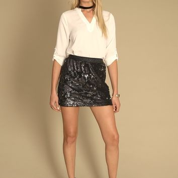Midnight Star Sequin Skirt