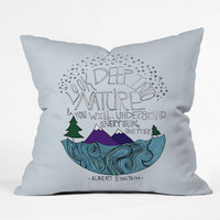 DENY Designs Home Accessories | Leah Flores Einstein Nature Throw Pillow