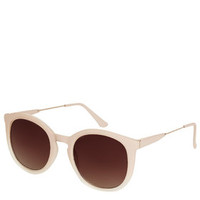 Matte Faded Metal Sunglasses - Plum