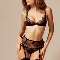 Laleh Bra Black and Bronze