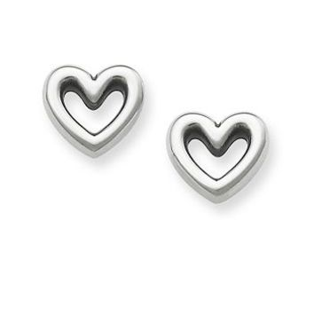 Heart Ear Posts in Sterling Silver | James Avery