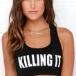 Style Stalker Killing It Black Sports Bra