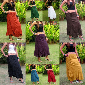 Wrap Around Skirt * Skirts For Women * Flamenco Skirt * Dance Skirt * Sarong * Hippie Skirt * Wrap Skirt * Boho Skirt *Gypsy Skirt* SW-terra