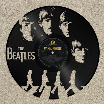 The Beatles Wall Art The Beatles Art John Lennon Wall Art Old Record Art The Beatles Record Art John Lennon Gift Beatles 50th Birthday Gift