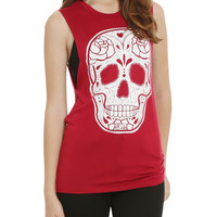 Sugar Skull Girls Muscle Top