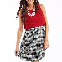 Kickoff Cutie Dress, Crimson