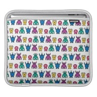 Kawaii Rainbow Alien Monsters Pattern iPad Sleeve