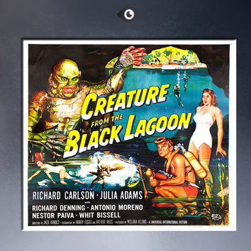 CREATURE FROM THE BLACK LAGOON, 1954 Art Print  poster  on canvas for wall decoration