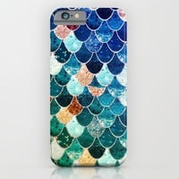 REALLY MERMAID TIFFANY iPhone & iPod Case by Monika Strigel